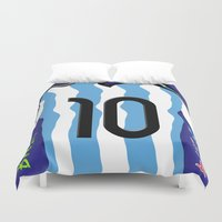 argentina Duvet Covers featuring Argentina in Brazil 2014 by WIGEGA