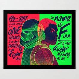 FN-2187/ The Name is Finn Art Print