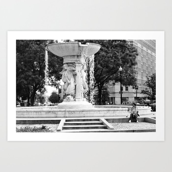 D.C. Fountain Art Print