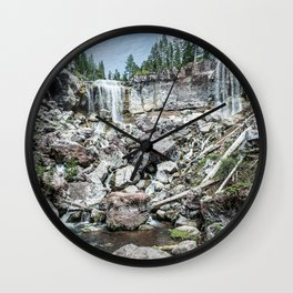 Rock Land Waterfall // Natural Beauty Wilderness Photography Decoration Wall Clock