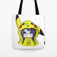onesie Tote Bags featuring Onesie by VerticalSynapse