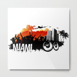 Miami Summer Metal Print