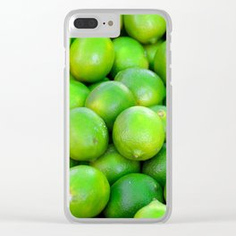 Green Limes fruit pattern Clear iPhone Case