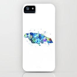 Jamaica Map iPhone Case