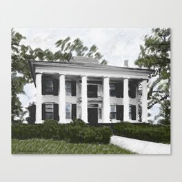 Dodd House - Georgia Plantation  Canvas Print