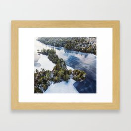 Paper Mill Lake Framed Art Print