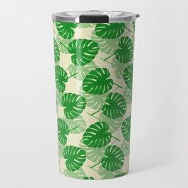 Monstera pattern Travel Mug