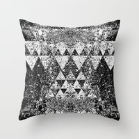 triangles Throw Pillows featuring TRIANGLES. by Council for design.