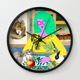 Rabbit Room Moon Wall Clock
