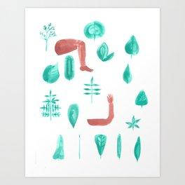 Leaf shape limb chart Art Print