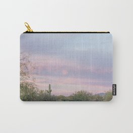 pink skies in Arizona Carry-All Pouch