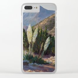 The Sentinels of the California Desert Clear iPhone Case