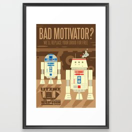 Droid repair shop Framed Art Print