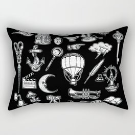 Vintage Retro Hand Drawn Illustrations Rectangular Pillow