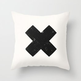 Ski X Cross Sign Throw Pillow