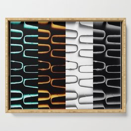 Lines | Abstract | Coloured Heating Coils | Nadia  Bonello Serving Tray