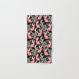 Jackalope - black and pink Hand & Bath Towel