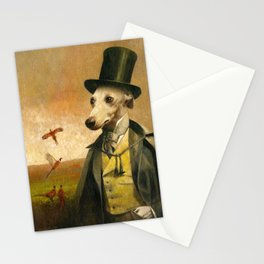 Victorian Whippet Stationery Cards