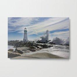 Walton Lighthouse Santa Cruz California Photography Metal Print