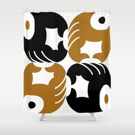 Brown supports Black Lives Matter Shower Curtain