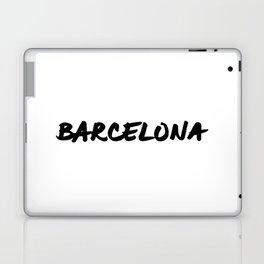 'Barcelona' Spain Hand Letter Type Word Black & White Laptop & iPad Skin