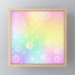 Magical Rainbow Gradient with Watercolor Bubbles Framed Mini Art Print