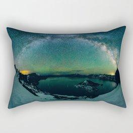 Galactic Rainbow over Crater Lake Rectangular Pillow