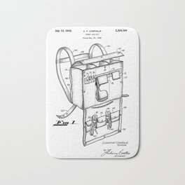 patent art Campiglia First Aid kit 1942 Bath Mat
