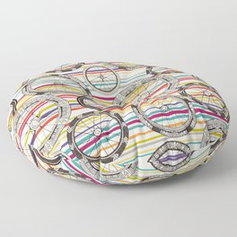 bike wheels stripe Floor Pillow