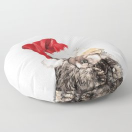Christmas Otter Mother and Child Floor Pillow