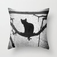 kitty Throw Pillows featuring Kitty by SensualPatterns