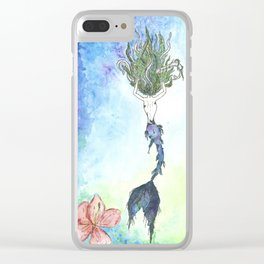 Mermaid in Harmony Clear iPhone Case