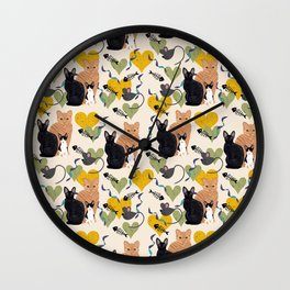 Rex cats Wall Clock