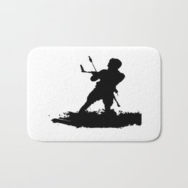 Board Out Of Your Mind Wakeboarding Silhouette Bath Mat