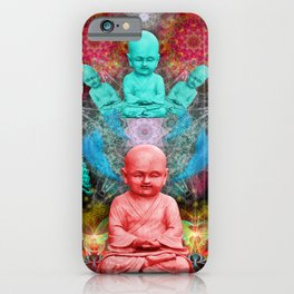 Young Meditator (psychedelic, visionary) iPhone Case