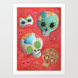 Mexican Sugar Skulls Art Print