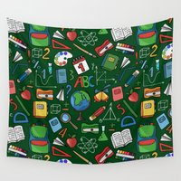 notebook Wall Tapestries featuring Back to school by Julia Badeeva