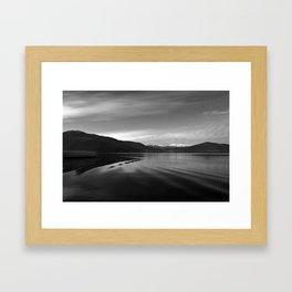 Lake Monochrome Silence I Framed Art Print