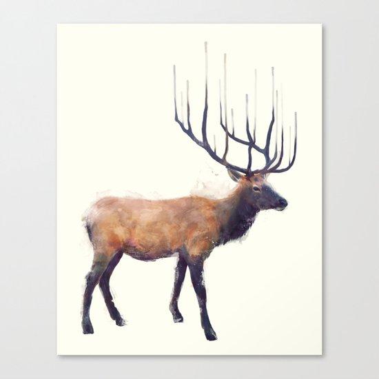 Elk // Reflect (Right) Canvas Print