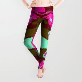 Ichiei - Abstract Colorful Batik Camouflage Tie-Dye Style Pattern Leggings