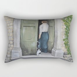 Going In and Out Rectangular Pillow