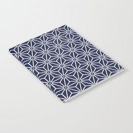 Japanese Yukata Jinbei Asanoha Navy blue Notebook