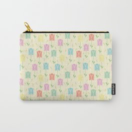 Tulips with yellow background Carry-All Pouch