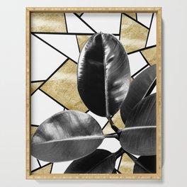 Ficus Elastica Geo #2 #tropical #foliage #decor #art #society6 Serving Tray