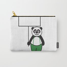 Panda Sign Carry-All Pouch