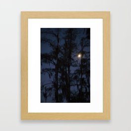 Moon over the Samp Framed Art Print