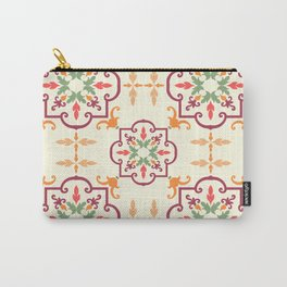 Old floral tiles Carry-All Pouch