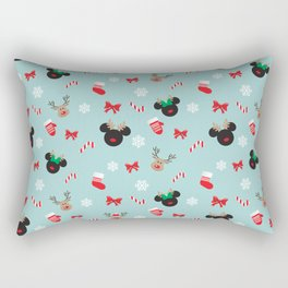 Christmas Mouse Ears Reindeers Rectangular Pillow