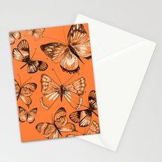 Coral butterflies Stationery Cards