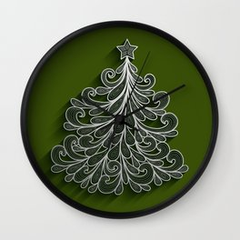 Abstract Christmas tree Wall Clock